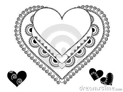 Colouful Henna Heart frame