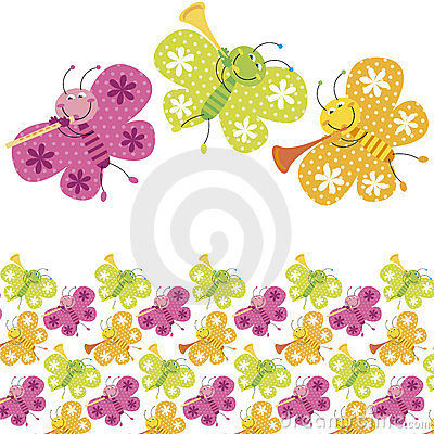 Colour butterfly pattern