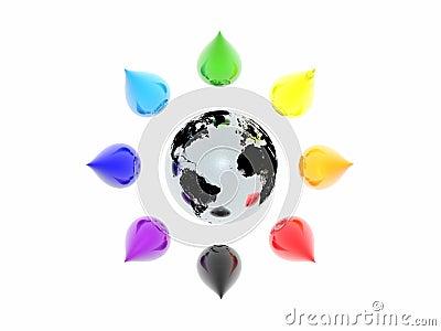 Colour drops