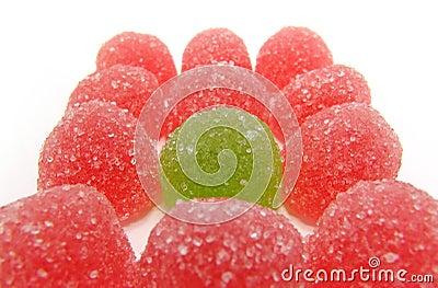 Colour fruit candy