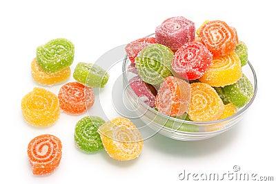 Colour fruit jellies