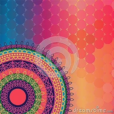 Colour Henna Mandala Background Stock Photo  Image 32398010
