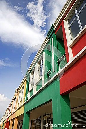 Colour homes above shops