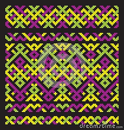 Colour ornament embroidery