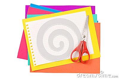 Colour paper with Scissors
