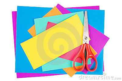 Colour paper with Scissors