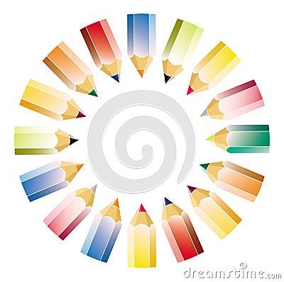 Colour pencil pattern