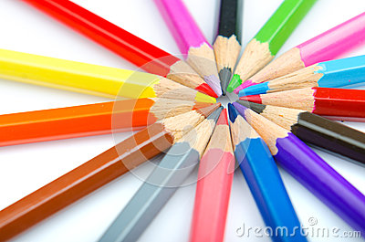 Colour pencils - creativity concept