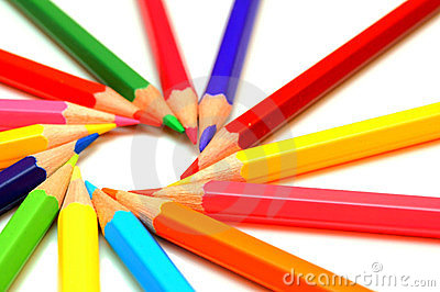 Colour Pencils On A White Background. Royalty Free Stock Photos - Image: 23481498