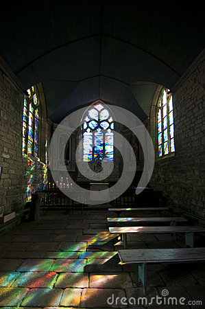 Colour reflections in a little chapel