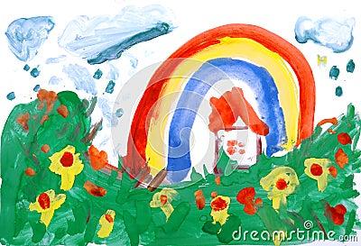 Colour rysunku ręki woda