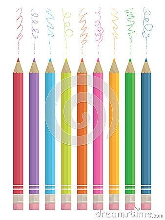 Colour sketching pencils