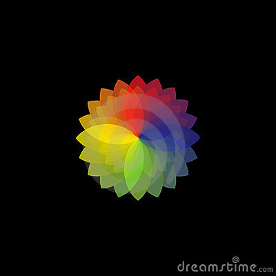 Colour wheel on black