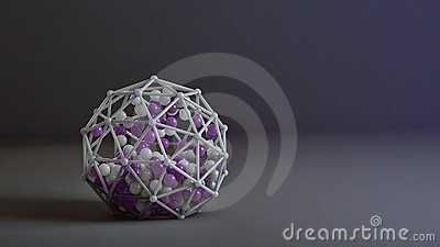 Coloured 3d abstraction with spheres