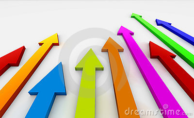 Coloured arrows