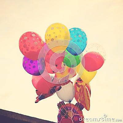 Coloured ballons
