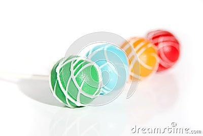 Coloured Cake Pops