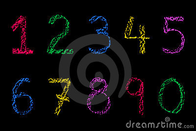 Coloured Chalk numbers