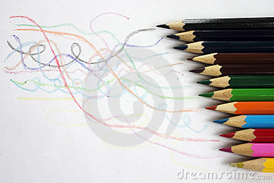 Coloured crayon