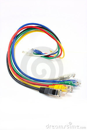 Coloured ethernet network cables