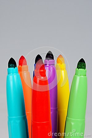 Free Coloured Felt Tipped Pens. Stock Images - 30934834