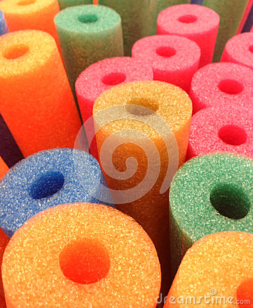 Free Coloured Foam Pool Noodles Abstract Background Stock Image - 43187041