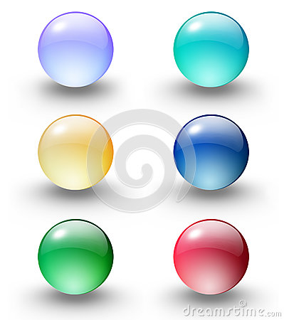 Free Coloured Glass Ball/web Button Stock Image - 82271921