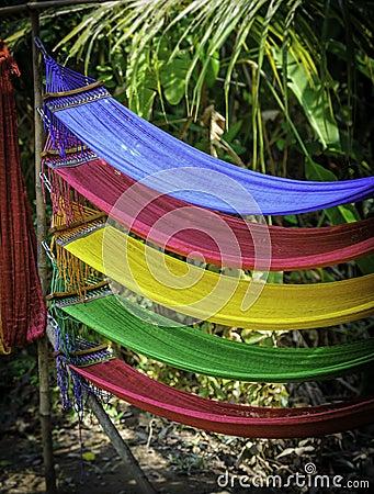 Coloured hammocks