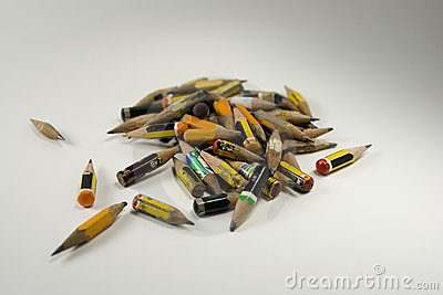 Coloured heap of pencils