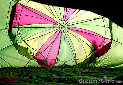 Coloured hot air baloon - inside