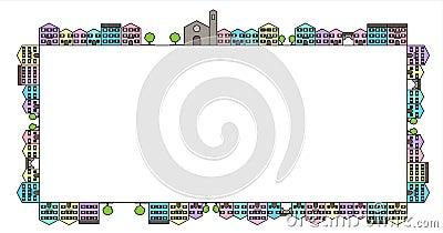Coloured houses frame