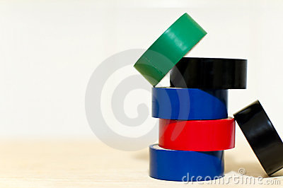 Coloured insulated tape