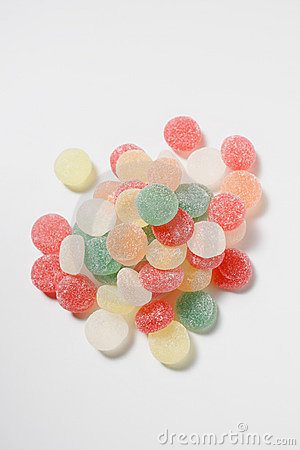 Coloured jelly sweets