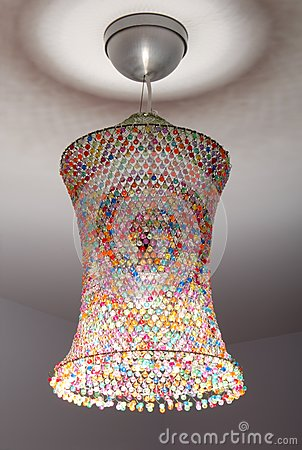 Coloured lampshade