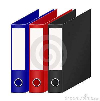Coloured office folders