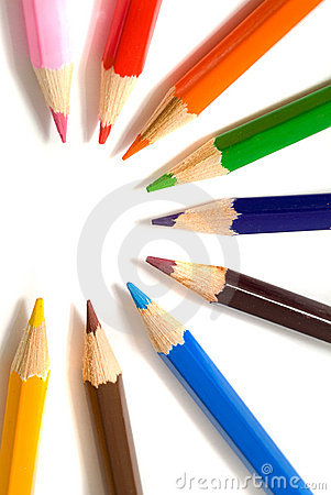Free Coloured Pencils Royalty Free Stock Photos - 2987768