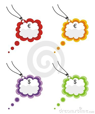 Coloured price tags