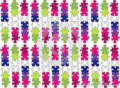 coloured puzzle pieces