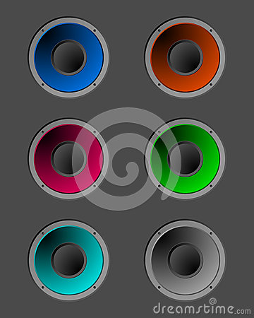 Coloured speakers