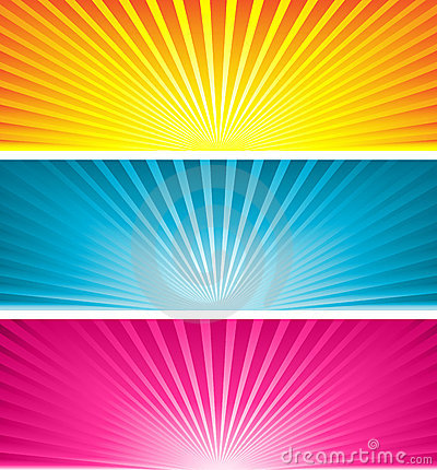 Free Coloured Starbursts Royalty Free Stock Photo - 3266505