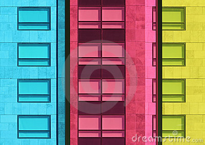Coloured windows.