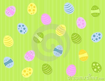 Colourfiul Green Easter Eggs