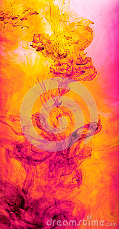 Free Colourful Background Of Swirling Ink Royalty Free Stock Image - 33991876