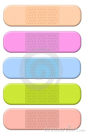 Colourful Bandages Band Aids Stock Photos - Image: 5097463