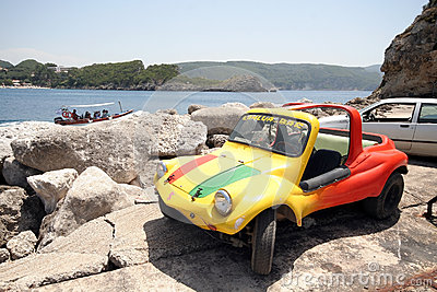 Colourful buggy car Editorial Stock Image