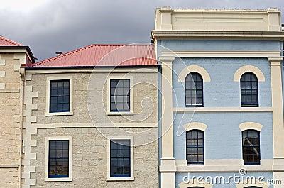 Colourful building facades, Hobart, Tasmania