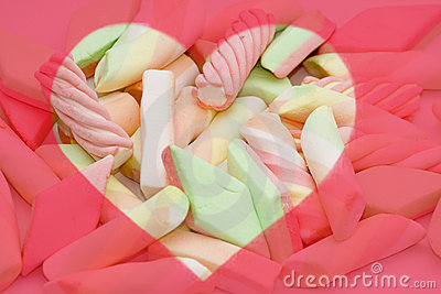 Colourful candy background