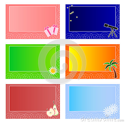 Colourful cards