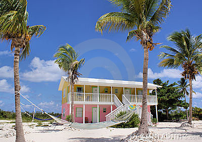 Colourful Caribbean Beach House Stock Images - Image: 11437684