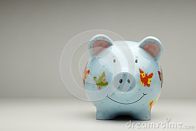 Colourful cermanic piggy bank